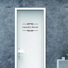Y baño en suite lavandería bronceado belleza Pared de habitación pegatinas puerta vinilo calcomanía transferencia Vintage decoración cita