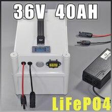 Е-байка 36В 40Ah LiFePO4 Портативный Батарея, 2000 Вт Электрический велосипед Батарея+ БМС Зарядное устройство 36V литиевая скутер электрический велосипед Батарея пакет
