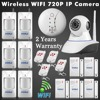 ISO Android APP Remote Control Wifi IP Camera Alarm System Night Infrared Light For Home Security