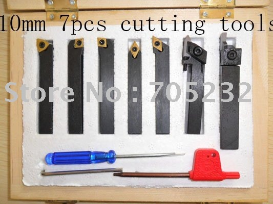 Retail and wholesale cutting tools with titanium coated indexable inserts 10mm*10mm
