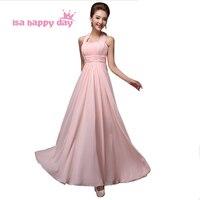 Robe De Soiree 2015 Summer Long Pink Special Occasion Elegant A Line Halter Neck Dress