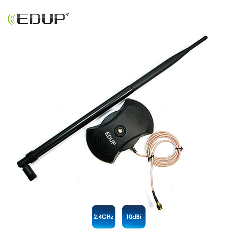 High gain 10dBi wifi Antenna 802.11n for wifi adapter router and repeater EDUP strong signal 2.4ghz wifi antenna цена