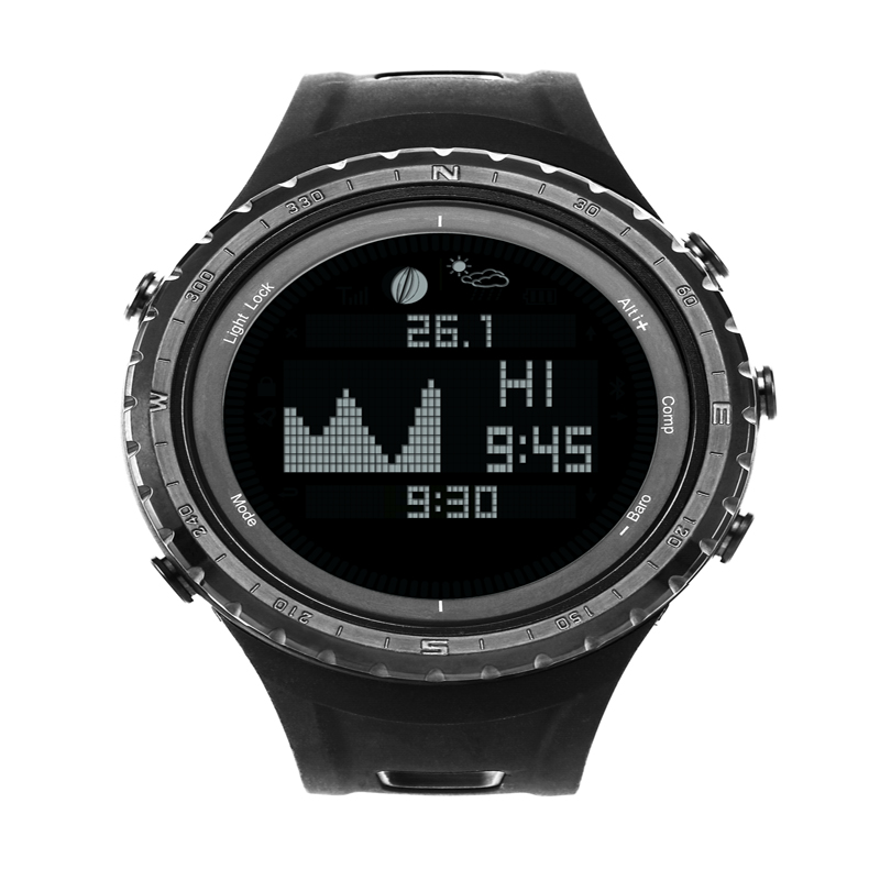 SUNROAD FR830 Smart TIDE Sports Watch with Digital Tide and Moon Phase Thermometer Pedometer  Blacklight LCD Display Watches smart digital wristwatches pedometer sports wristband watch male and female temperature display students usb watches