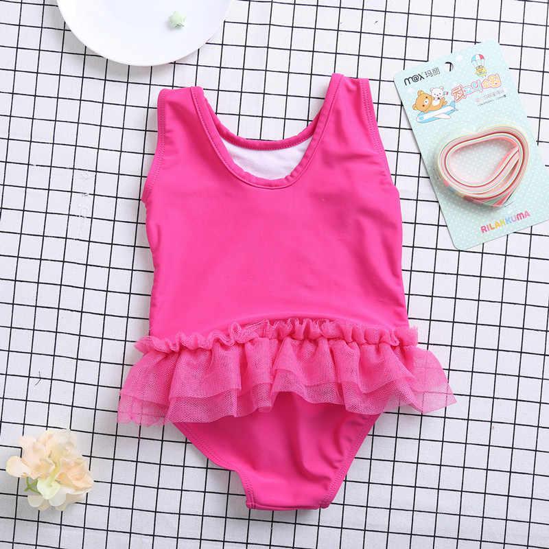 2fc717af029ec ... Funfeliz Children swimwear Pink Supergirl one piece swimsuit with skirt  girls swim wear Kids Beachwear Girl ...