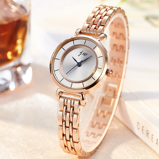 JW Brand 2018 New Luxury Women Stainless steel Watch Fashion Quartz Ladies Wristwatch Rose Gold Business Dress Female Clock kimio brand rose gold luxury slim bracelet ladies casual business waterproof clock women dress stainless steel mesh quartz watch