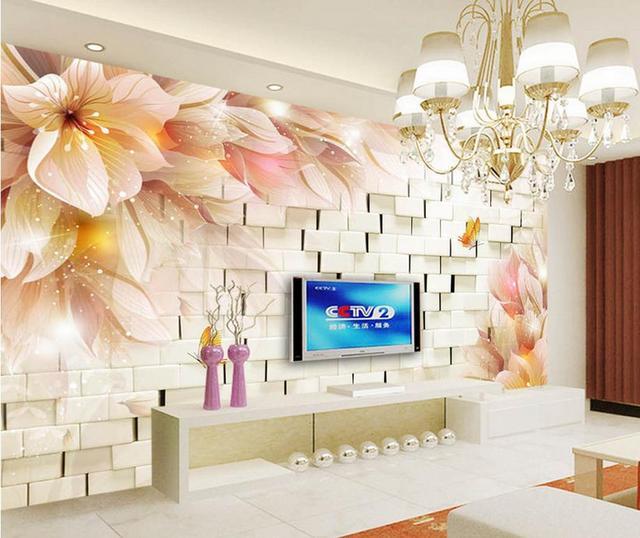 Foto Murales Carta Da Parati Fantasia Fiori 3d Stereo Tv Sfondo