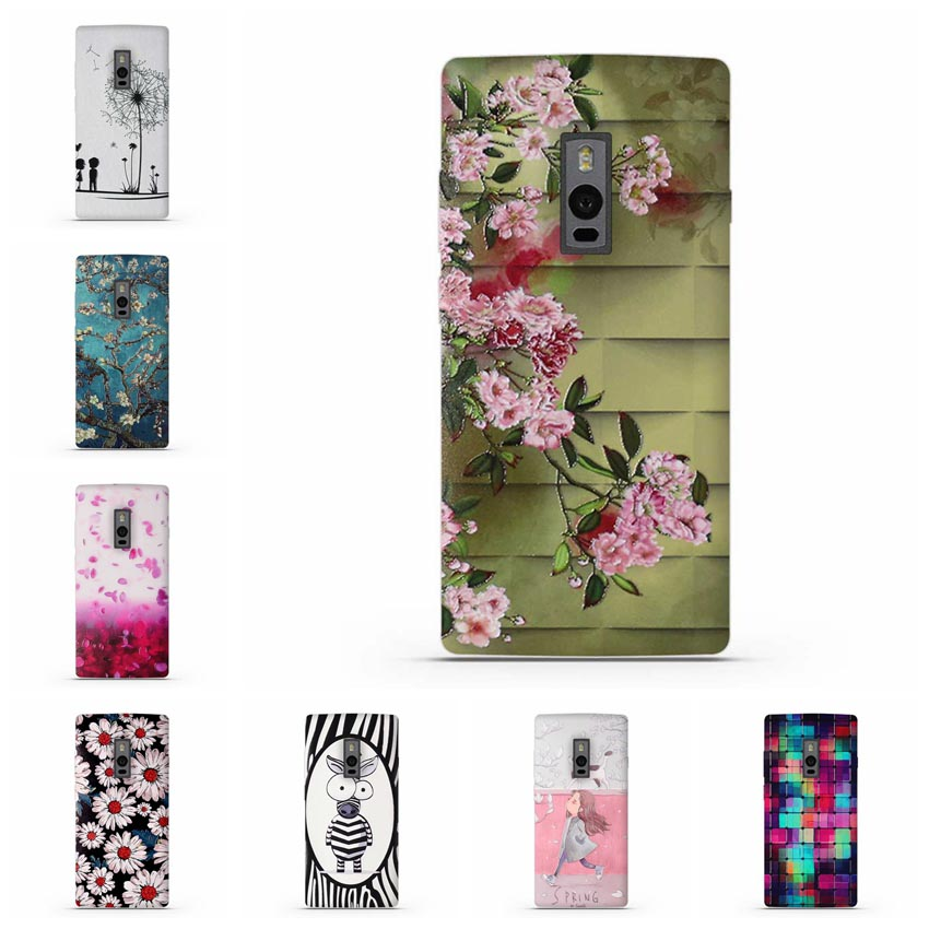 Case For OnePlus 1+ 2/Oneplus Two Soft Silicon Case Cover for One Plus 2 OnePlus 2 A2001 Phone Case Cartoon Flower Cover