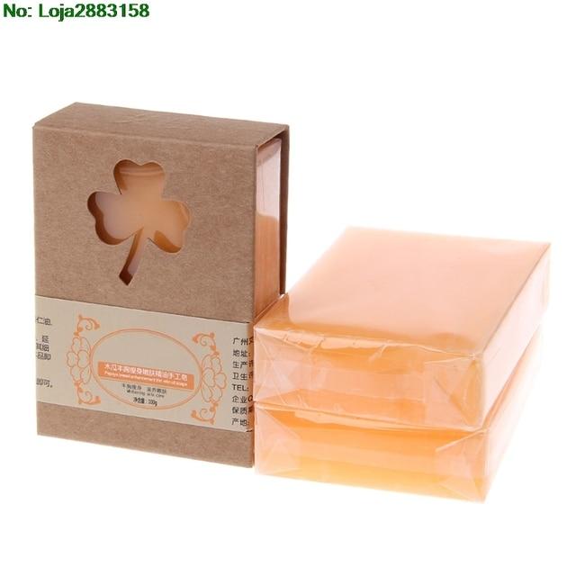 Natural Organic Herbal Green Papaya Whitening Lightening Skin Handmade Soap 1