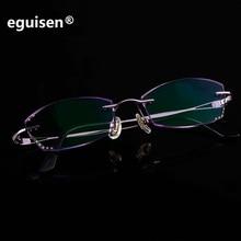 width-122 New ultra-light Screwless design rimless women EMI Defending Coating glasses tinted lenses female small face