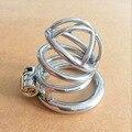 Nuevo dispositivo de castidad de acero inoxidable castidad Masculina catéter de metal cerradura del pene del anillo de castidad cinturón de castidad uretral del pene de los hombres
