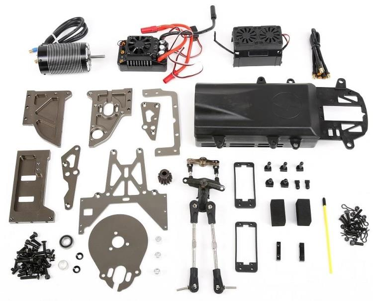 E-Baja Conversion Kit (1/5 Gas Powered Baja to Electric Brushless Motor Baja) FOR HPI KM ROVAN 5B 5T SC NEW new king motor jaguar brushless motor esc mounting kit for hpi baja 5b 5t rovan