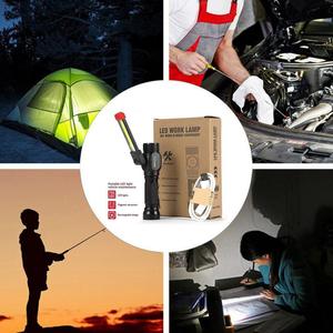 Image 5 - AloneFire W102 COB Work Light Portable LED Light Home Outdoor Foldable Rechargeable Work Light Magnet Flashlight torch lamp