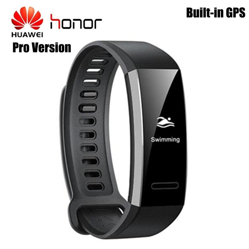 Huawei Fascia 2 Pro IP68 Impermeabile GPS Banda Intelligente PMOLED Dello Schermo Monitor di Frequenza Cardiaca di Sedentaria Ricordo di Sport di Guida Degli Uomini