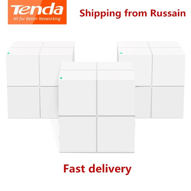 Tenda Nova MW6 WiFi Wireless Router Whole Home Mesh Gigabit WiFi System with 11AC 2.4G/5.0GHz WI FI Repeater, APP Remote Manage