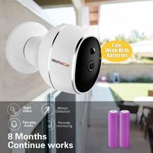 SMARSECUR bez drutu kamera IP 720 P HD bez drutu 6400 mAh 8 miesięcy bezpieczeństwa baterii bezprzewodowy WiFi ip aparat z baterią