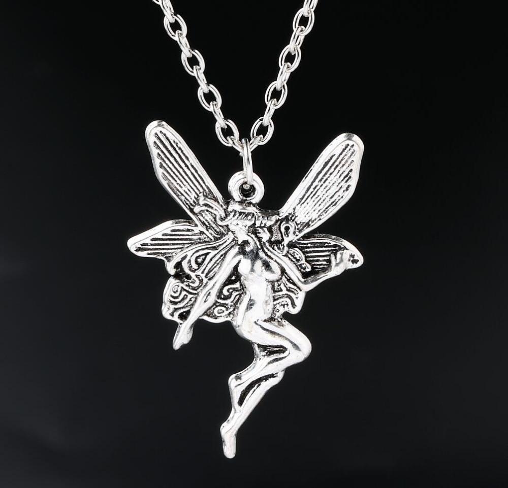 42x30mm fairy pendant necklace antique silver angel charms necklaces 42x30mm fairy pendant necklace antique silver angel charms necklaces jewelry new in pendant necklaces from jewelry accessories on aliexpress alibaba aloadofball Images