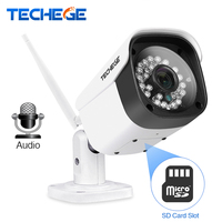 Techege WiFi IP Camera Aduio 1080P 960P 720P ONVIF P2P Motion Detection RTSP Email Alert Outdoor