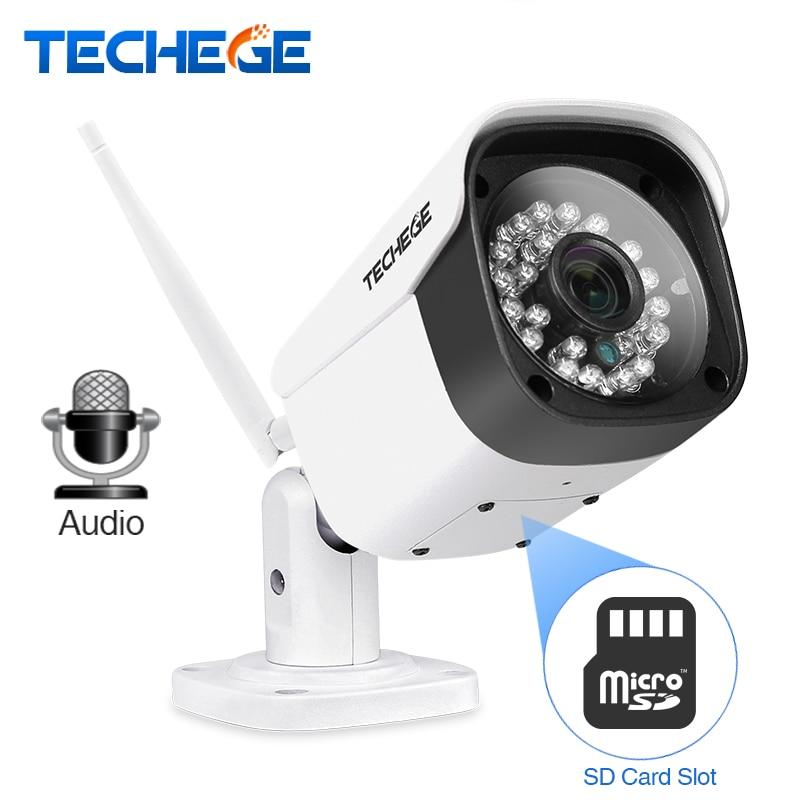 Techege WiFi IP Camera Audio 1080P 960P 720P ONVIF P2P Motion Detection RTSP Email Alert Outdoor Waterproof Metal CCTV Camera