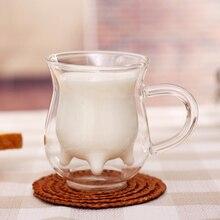 1PC Double-layered Glass Cup Creative coffee Mug Milk Glass Cup Cup And Mugs Coffee Cup Water glass beer liquid mug