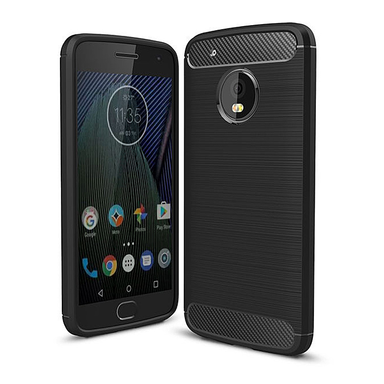 Vonky Case for Moto <font><b>G5</b></font> Plus G4 Play Cover Carbon Fibre Brushed TPU <font><b>Smart</b></font> <font><b>Phone</b></font> Cases for Moto G4 <font><b>G5</b></font> Plus Mobile <font><b>Phone</b></font> Bag