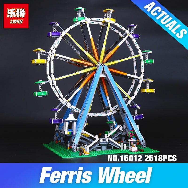 LEPIN 15012 2478Pcs City Expert Ferris Wheel Model Building Kits Block Bricks Compatible Toy 10247 DIY Educational Children Gift