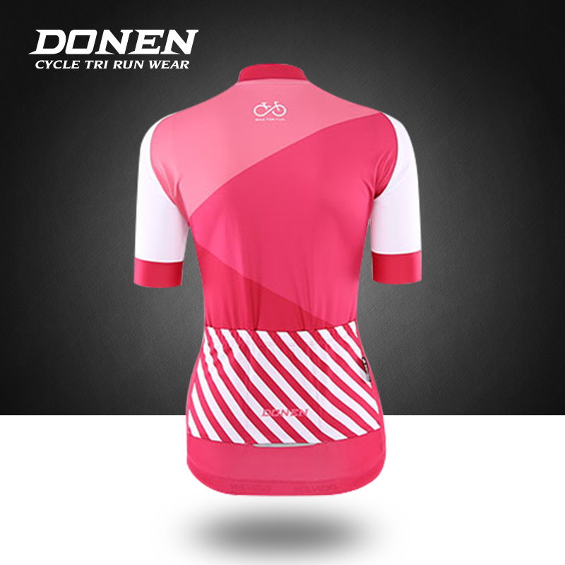 DONEN Summer Breathable Women MTB Bike Cycling Clothing Mountian Bicycle Clothes Quick-Dry Cycling Jersey Sets Ropa Ciclismo