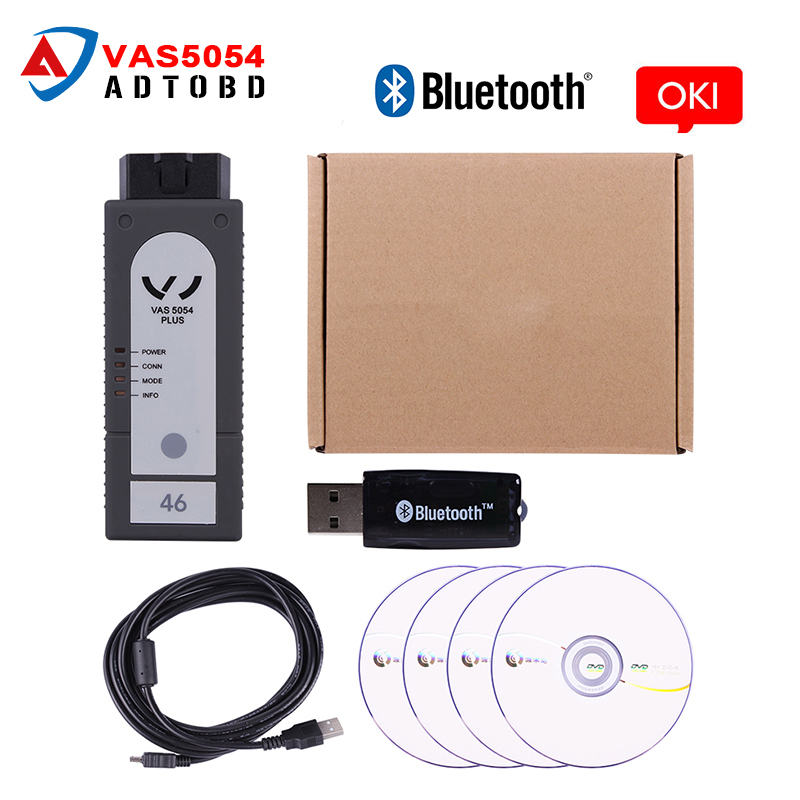 2017 hot sale VAS5054 Plus ODIS 2.2.4 with Bluetooth with OKI Chip Support UDS Protocol VAS 5054A scanner Free Shipping 2017 vas5054a vas5054 odis 3 01 with oki vas 5054a full chip bluetooth support uds protocol diagnostic tool for vw seat skoda