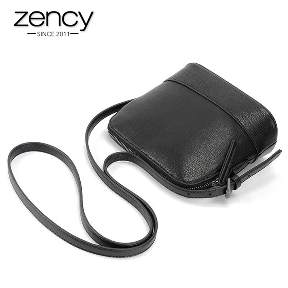 2017 Classic Famouse Brand Shell Quality Natural Genuine Leather Black Women Small Messenger Bags Ladies Handbag