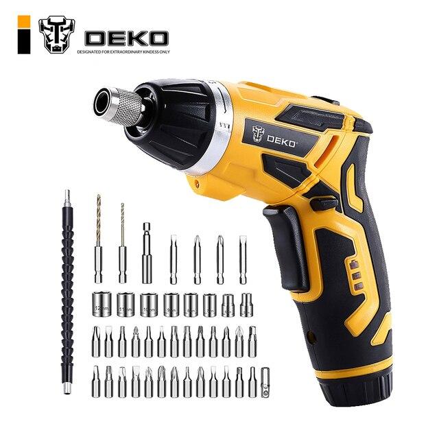 DEKO GCD3.6DKB беспроводной электрический отвертка бытовой литий-ионный Перезаряжаемые дрель/Драйвер Мощность пистолет инструменты светодио дный свет BMC