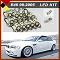 Автомобиль Карта Магистральные Номерного знака Для Ног Лампы Интерьер Нет Ошибка LED свет Комплект Пакет Белый Для BMW E46 Седан Купе M3 1998-2005