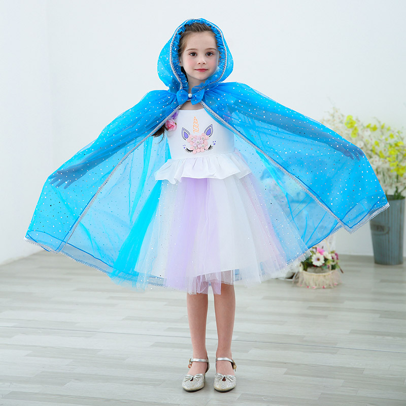 Children Beauties Hooded Cloak Princess Spirit Fairy Cape Costumes For Girl  Hoween Funny Party Stage Costumes Drop Shipping