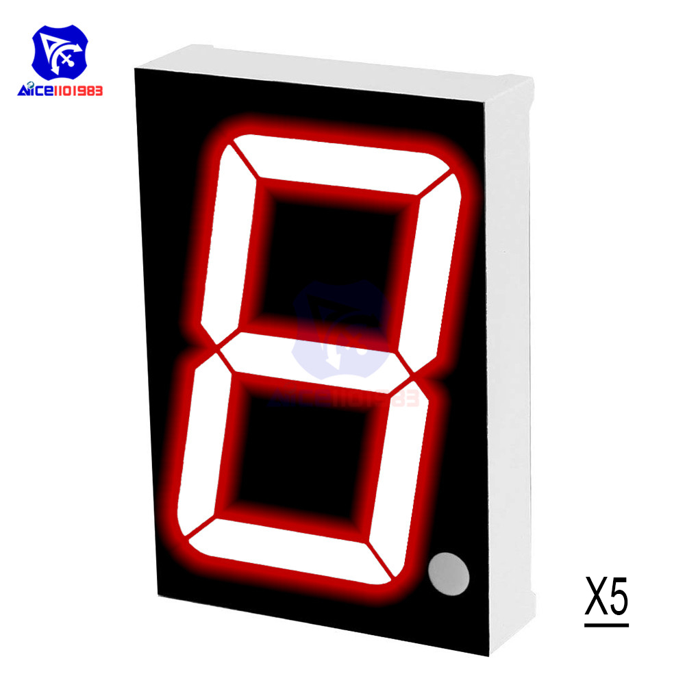 "5PCS/Lot LED Module Common Cathode 10 Pin 1 Bit 7 Segment 2.2 x 1.5 x 0.43 Inch 1.8"" Red LED Display Digital Tube(China)"