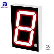 5PCS/Lot LED Module Common Cathode 10 Pin 1 Bit 7 Segment 2.2 x 1.5 x 0.43 Inch 1.8