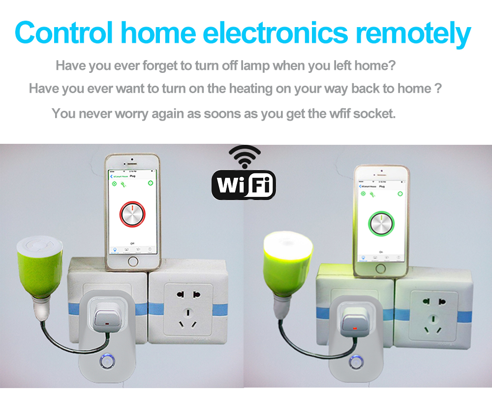 Work with Amazon Alexa Xenon Smart electrical plug WiFi Socket Timer ...