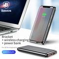 Baseus 10000 mAh power Bank QI Беспроводное зарядное устройство для iPhone samsung huawei PD + QC3.0 Быстрая зарядка портативный внешний аккумулятор type-C порт