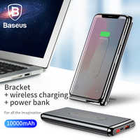 Baseus 10000mAh Power Bank QI Wireless Charger For iPhone Samsung Huawei PD + QC3.0 Fast Charging Portable Powerbank Type-C Port