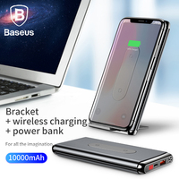 Baseus 10000mAh Power Bank QI Wireless Charger For iPhone Samsung Huawei PD + QC3.0 Fast Charging Portable Powerbank Type C Port