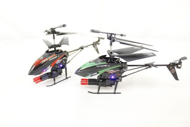 WL speelgoed V398 3.5 Channel mini RC Helicopter met raketlancering usb-oplaadfunctie indoor speelgoed P3