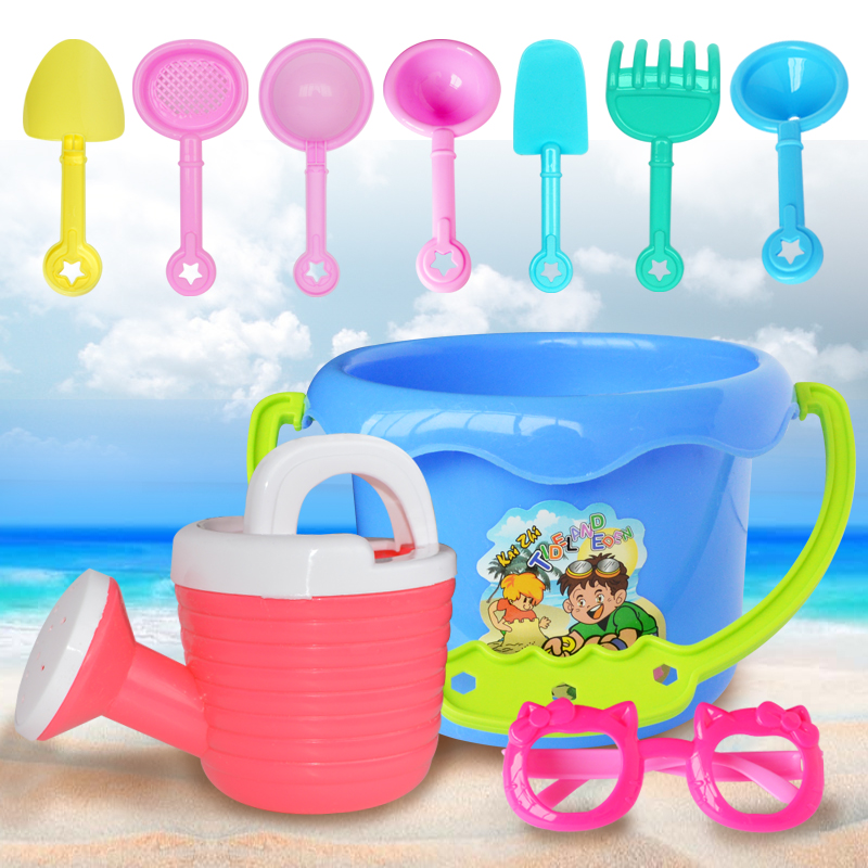 9pcs/set Beach Sand Playing Tool Spade Shovel Pit Toys for children Water Plastic Toy Set Baby Outdoor Beach Toys Gifts