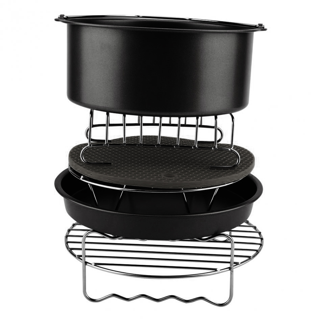 ABFP 6Pcs Durable Baking Basket Pizza Plate Air Fryer Accessories For Cooking Kitchen