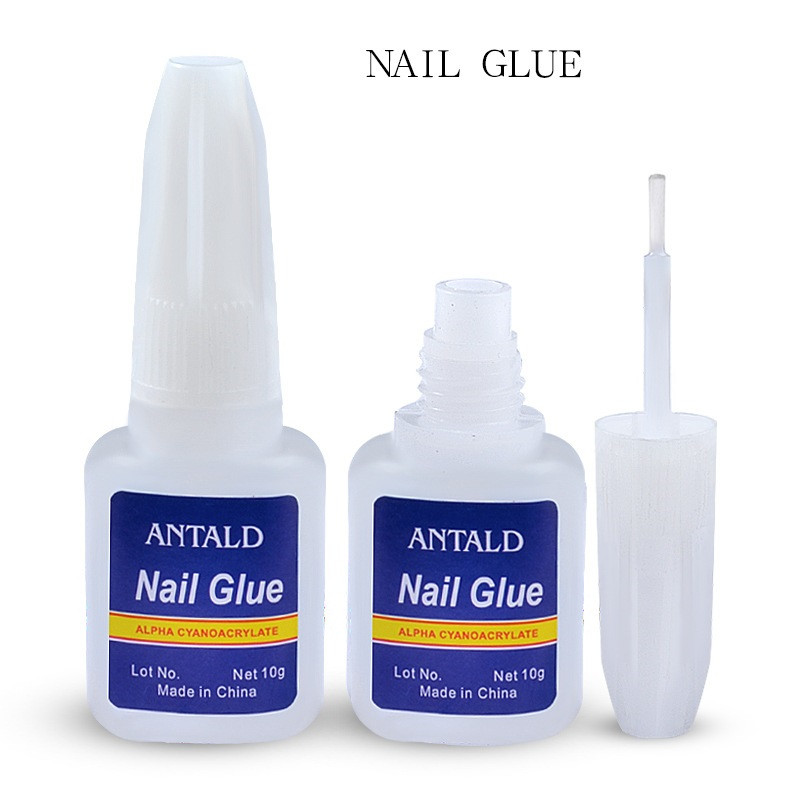 Hot 1 Pcs 10g False Nail Tips Glue Nail Art Decoration With Brush False Nail Glue For Nail Stickers And Decals Manicure Tools