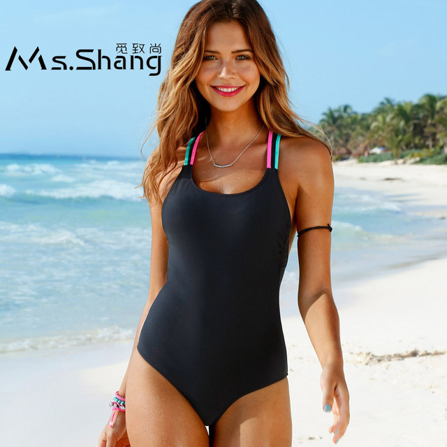 e23544894ed Ms.Shang 2018 Solid One Piece Swimsuit Push Up Women Swimwear Beachwear  Plus Size Swimwear Sexy Bathing Suit Women Swim Suits XL