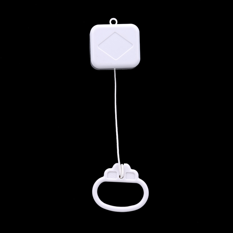 1PC White Plastic Pull String Clockwork Cord Music Box Pull Ring Music Box Baby Infant Kids Bed Bell Rattle Toy Gift Hot Selling