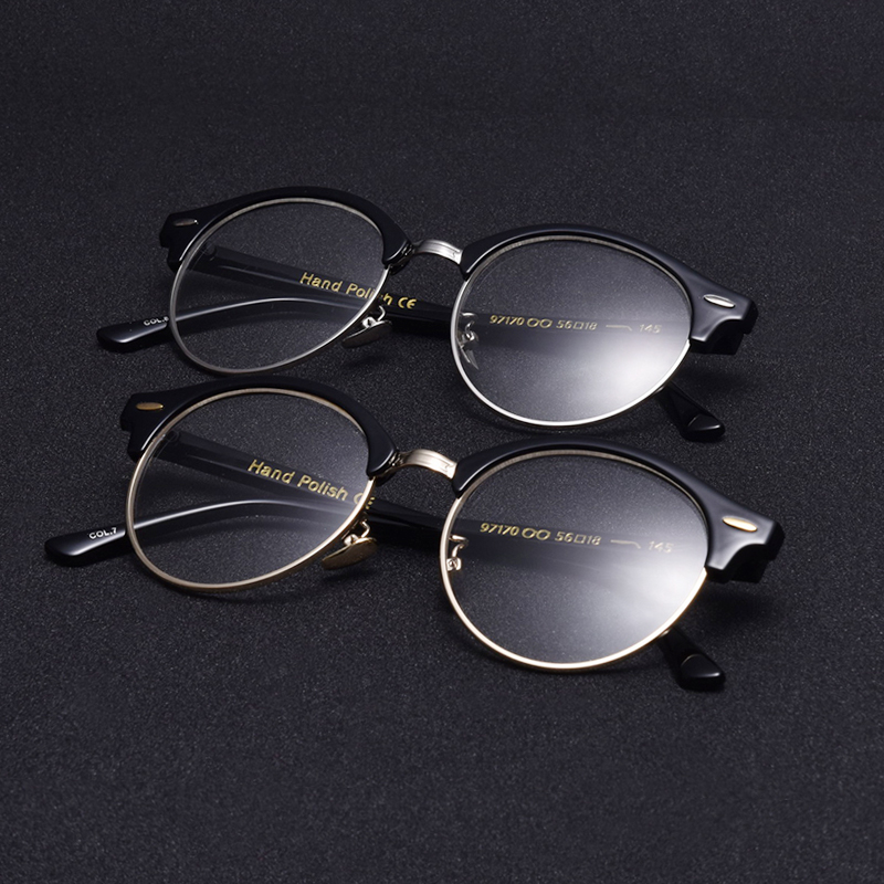 f682bba4518b Winla 2017 Cat Eyes Glasses Transparent Clear Lens Nerd Glasses Classic  Vintage Designer Optical Eye Glasses Frames Mental Legs -in Eyewear Frames  from ...
