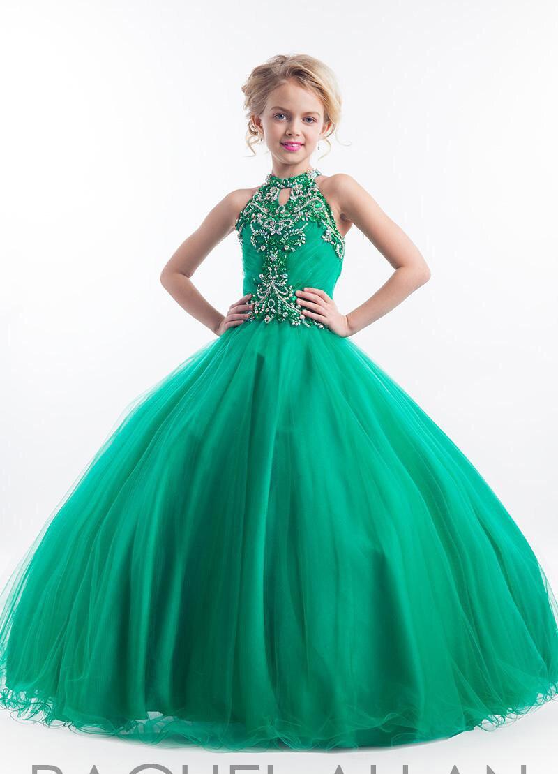 Dulce Chica Encantadora 2015 Nuevo verde esmeralda princesa del desfile del vestido de bola de flores
