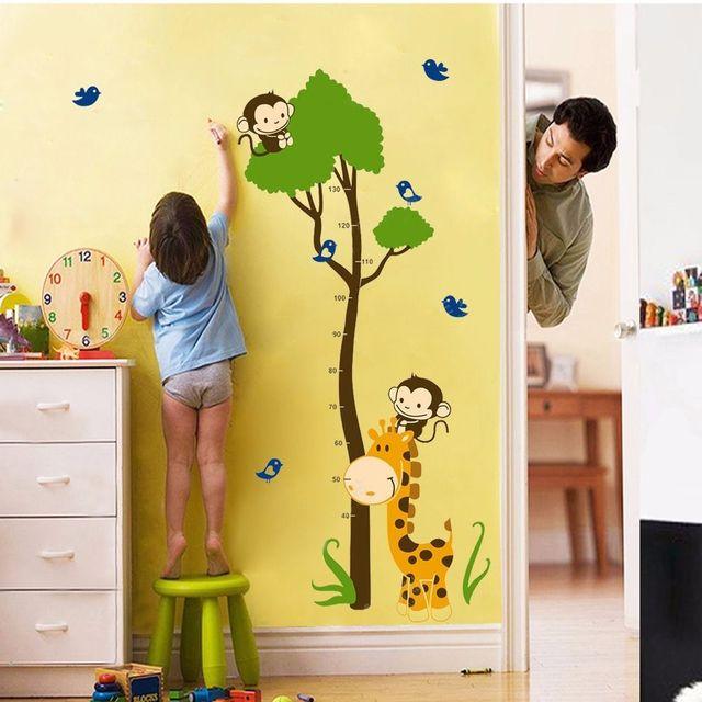 animal monkey bird giraffe tree baby child height measure growth ...