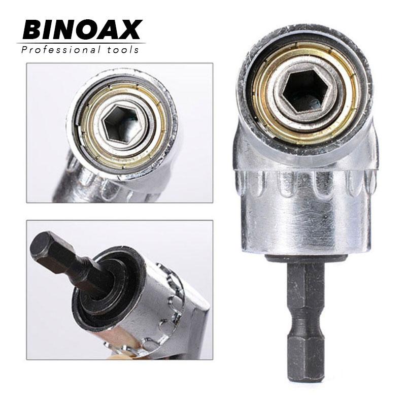 """BINOAX 105 degrés 1/4 """"foret électrique hexagonal réglable hexagonale Bit Angle tournevis tournevis prise support adaptateur outils"""