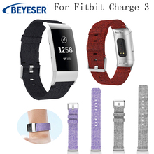 Nylo Replacement watch Strap for Fitbit Charge 3 sport Watchband fitbit band correa charge3 Wrists Bracelet