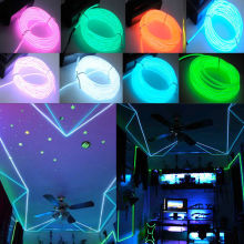1m LED EL Wire Neon Light Dance Holiday Decor Novelty lamp Waterproof Flexible Rope Tube Strip String light