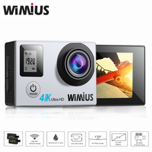 Wimius 2.0 LTPS+0.66 Status Screen Wifi Action Camera 4K Portable HD Video Sports Go Waterproof 40M+ Portable DV Pro Bag